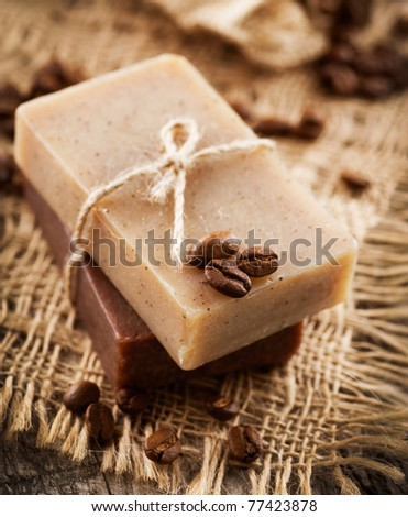 Spa Coffee Soap.Anti-cellulite treatments.Scrub