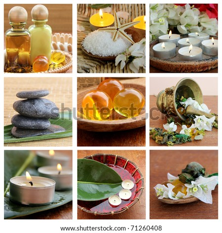 Spa collage - stock photo