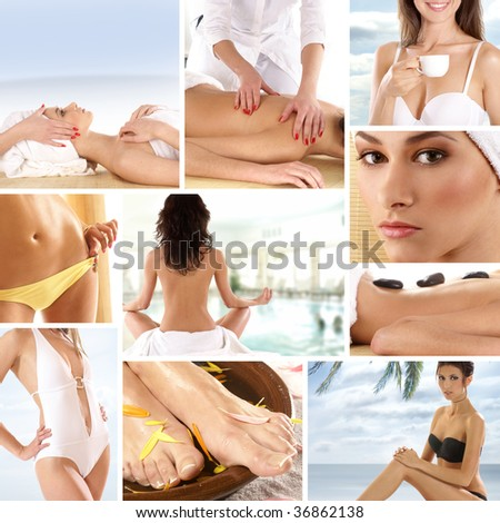 Spa collage made of some pictures - stock photo