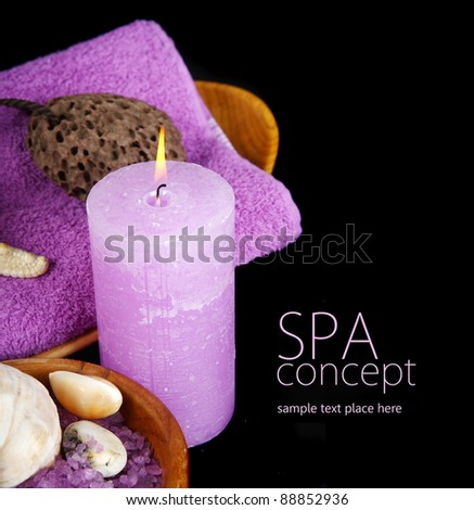 Spa composition in black