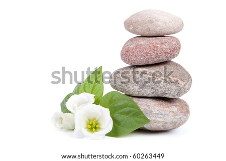 Spa composition on a white background. - stock photo