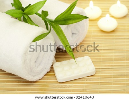 Spa composition with bamboo - stock photo