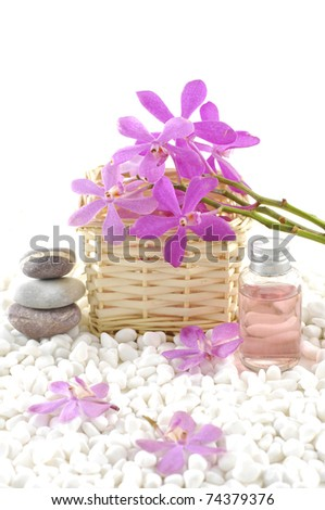 spa concept-bath relaxation and body treatment - stock photo
