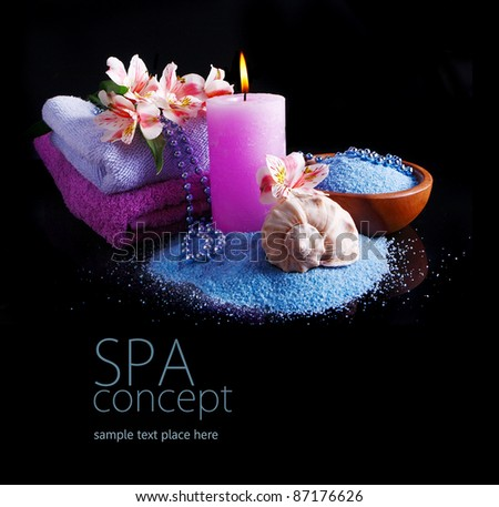 Spa concept in black