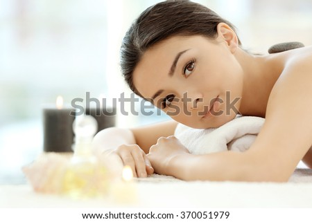 Spa concept. Woman relaxing. - stock photo