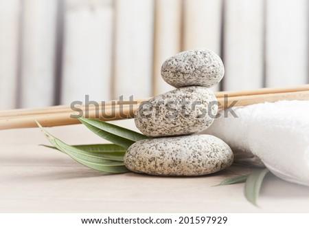 spa concept, zen stones  - stock photo