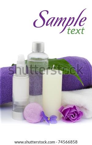 Spa cosmetics and wellness - stock photo