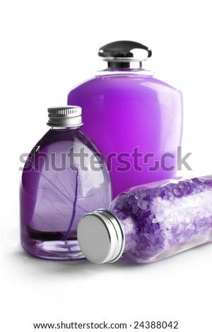 SPA cosmetics series. cosmetics bottles - stock photo