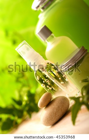 SPA cosmetics series. cosmetics bottles - stock photo
