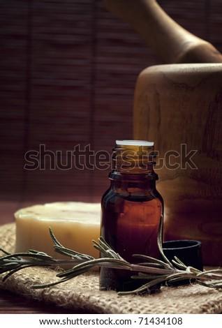 spa essence oil - stock photo