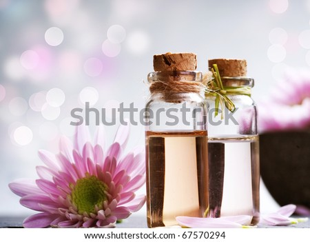 Spa Essential Oil.Aromatherapy - stock photo
