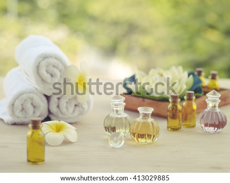 Spa essential oil background