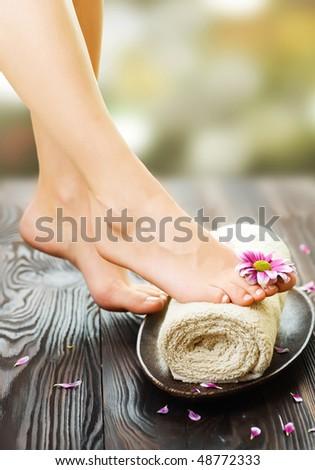 Spa Feet - stock photo