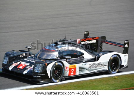 SPA-FRANCORCHAMPS, BELGIUM - MAY 7: No. 2 Porsche 919 Hybrid of Romain Dumas, Neel Jani and Marc Lieb during round 2 of the FIA WEC on May 7, 2016 in Spa-Francorchamps, Belgium.