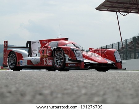 SPA-FRANCORCHAMPS, BELGIUM - MAY 1: Presentation of the new Rebellion Racing R-One race car during round 2 of the FIA World Endurance Championship on May 1, 2014 in Spa-Francorchamps, Belgium.