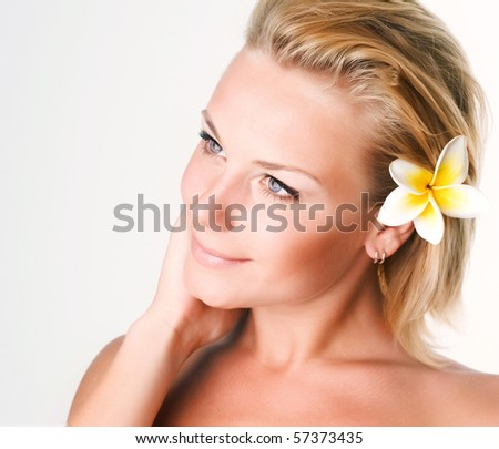 Spa Girl - stock photo