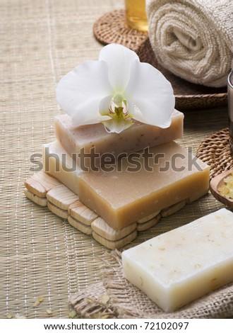 Spa Handmade natural Soap - stock photo