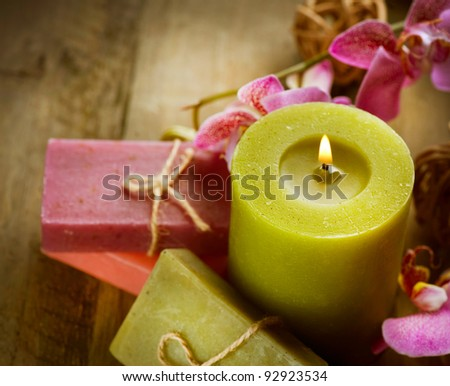 Spa Handmade natural Soap - stock photo