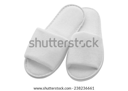 Spa, hotel - home slippers open - isolated - stock photo