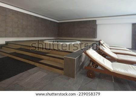 spa hotel interior jacuzi - stock photo
