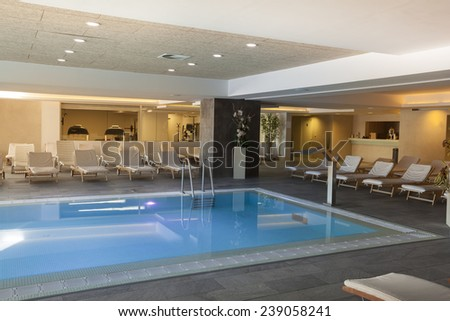 spa hotel interior pool