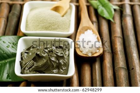 Spa Mud and Sea Salt - stock photo