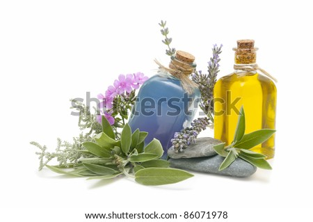 spa oils and perfumes - stock photo