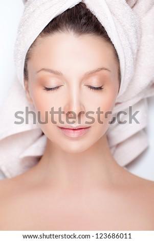 Spa portrait - stock photo