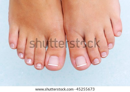 Spa procedure for nice woman's feet