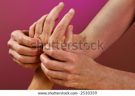Spa Reflexology Hand Massage - stock photo