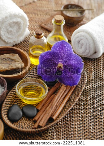 spa relax set on mat
