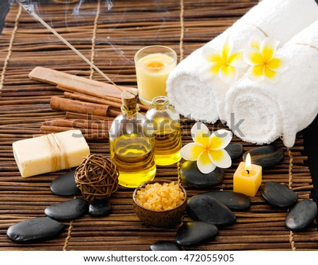 Spa resort and wellness composition