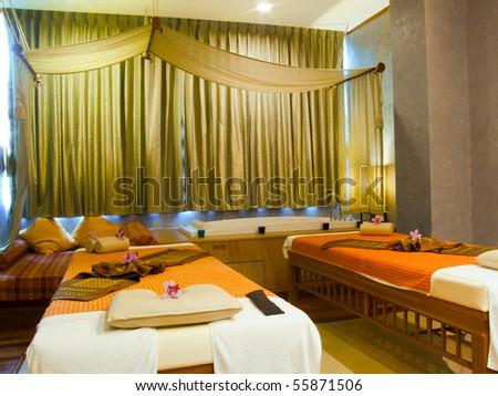 Spa Room Thailand - stock photo