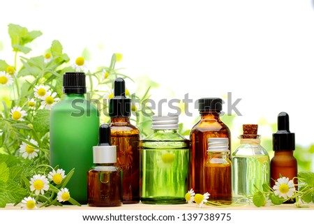 Spa scene with natural cosmetics - stock photo