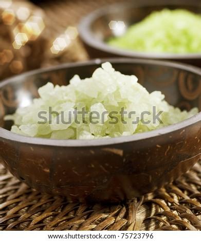 Spa scented Salt. - stock photo