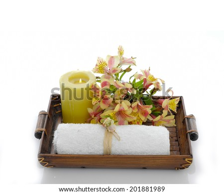 Spa set in basket
