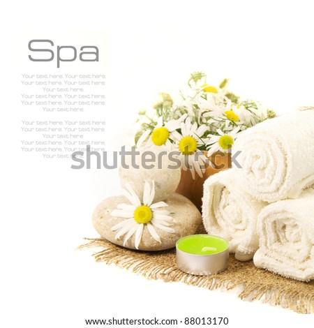 Spa set on a white background - stock photo