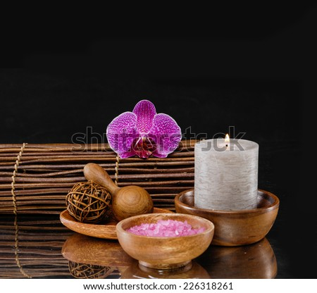 Spa setting �black background