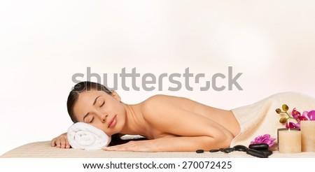 Spa. Spa woman. spa salon - stock photo