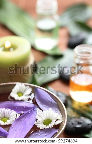 Spa still life,Closeup. - stock photo