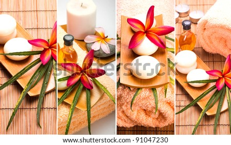 SPA still life collage - stock photo