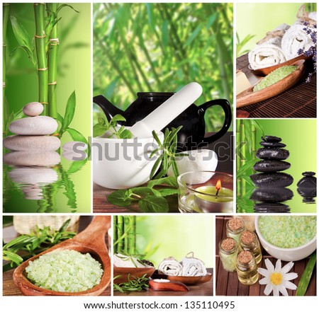 Spa still life collection - stock photo