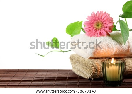 Spa still life over white - stock photo