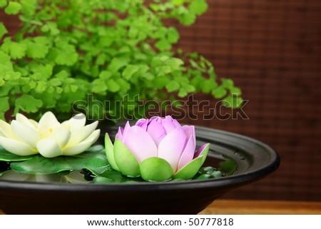 Spa still life with lotus. - stock photo