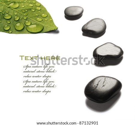 spa stone with water drops - stock photo