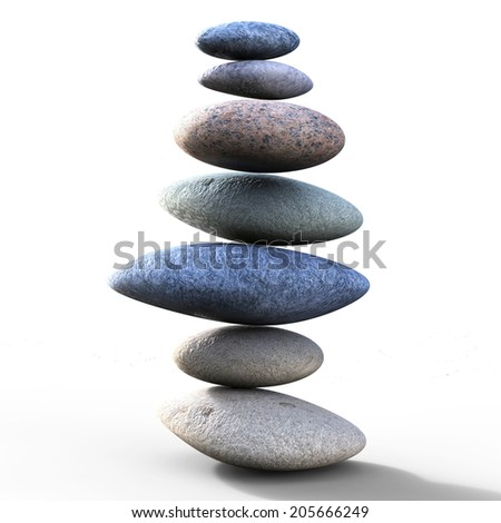Spa Stones Indicating Perfect Balance And Harmony - stock photo