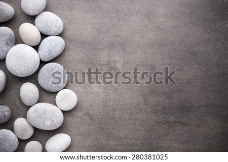 Spa stones treatment scene, zen like concepts. - stock photo
