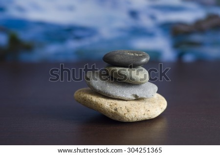 Spa Stones with Water Background