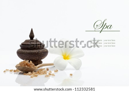 spa theme object on white background. banner. lots of copy space - stock photo