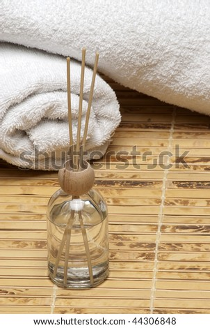 spa, towel, treatment, aromatherapy, healthy, lifestyle, therapy, care, body, healthcare,  still, white, objects, background, clean,  - stock photo